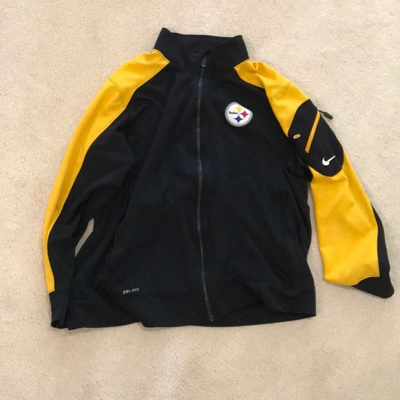 new style 3e5fa 7ee51 PittsBurgh Steelers Nike Dri-Fit Jacket